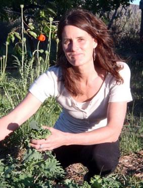 Dr. Sierra in her garden